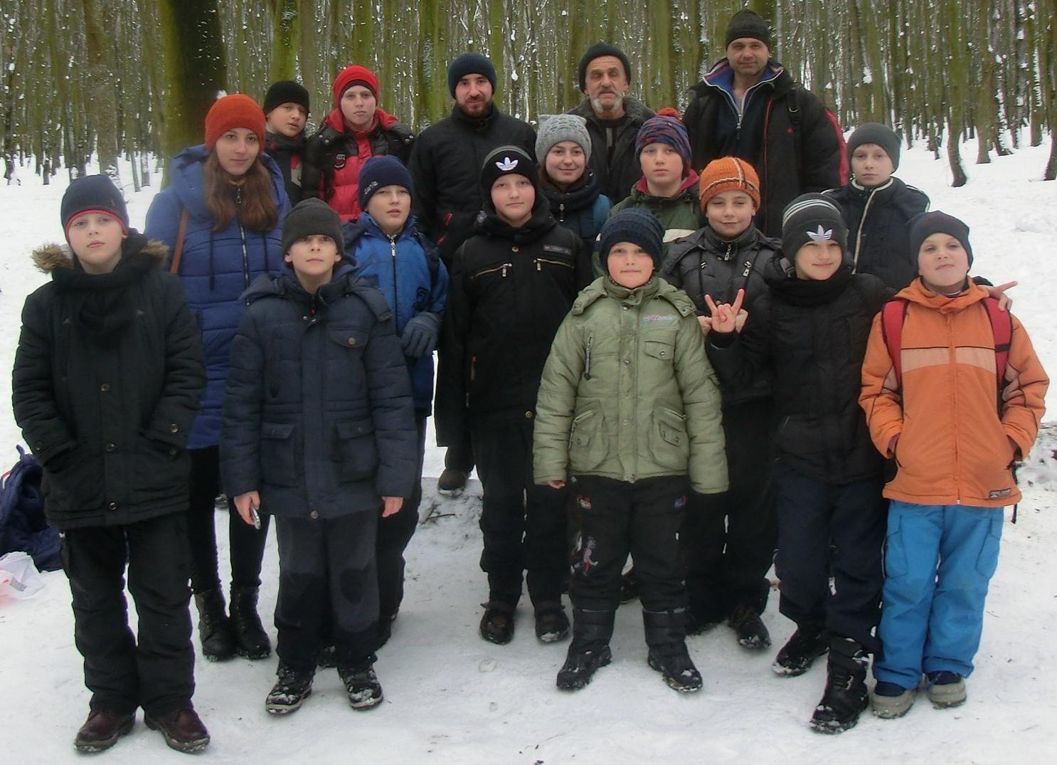 *** Похід до зимового лісу до Дня Соборності України - хмельницькі гопаківці - 22 січня ***